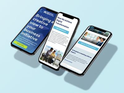RCG Website (Mobile) tech phone mobile interactive web design web rcg ui design blue
