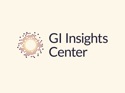 GI Insights Center research pharma gi vector design branding logo gradient yellow red black