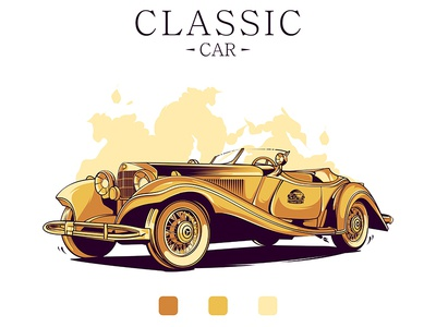 Classic Car garage americanclassic classiccars musclegarage musclecar carillustration illustration cars cartoon forsale tshirtdesign artwork
