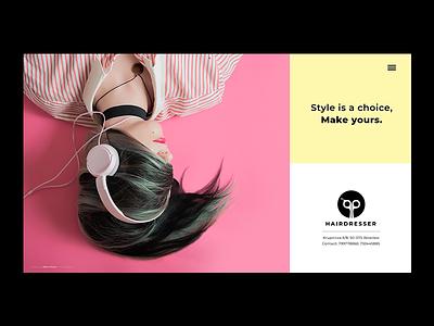 Web Design website design hairdresser website layout layout webdesigner homepage website graphic  design behance bowwe lifestyle modern spanish website logo brand identity graphic design web design design business web