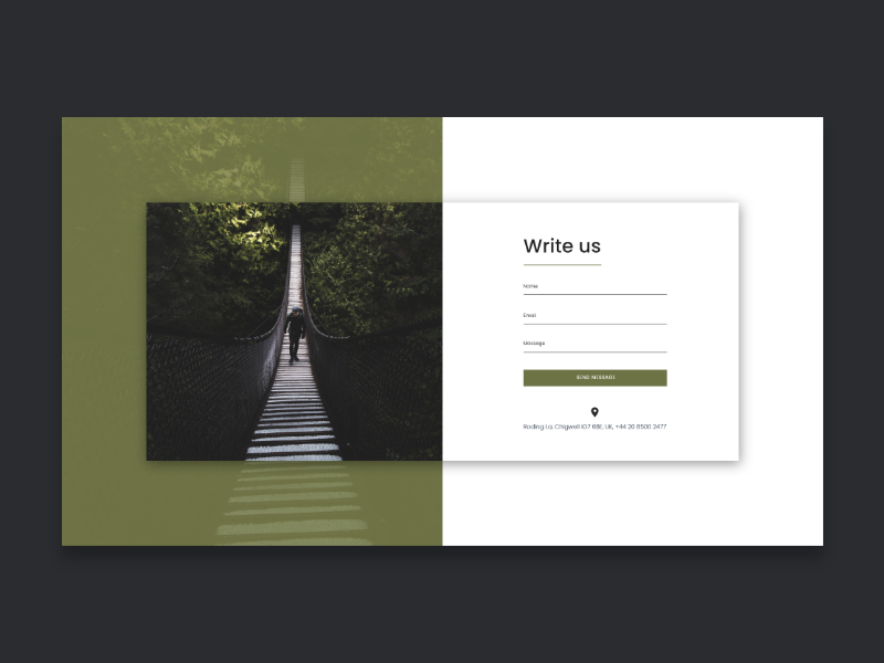 Contact Form by BOWWE on Dribbble
