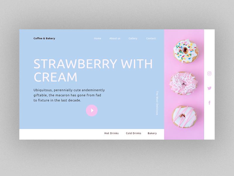 Doughnut Design marketing modern graphic design brand identity userinterfacedesign pink website concept baker cookie doughnut bakery website builder web design bowwe web design logo business ui illustration