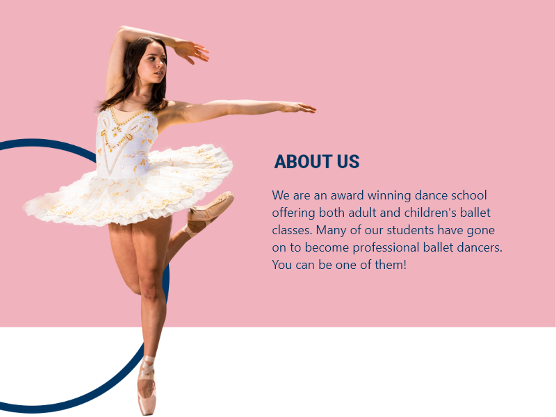 Ballet modern web design marketing dance ux design bowwe ui illustration logo business graphic design web