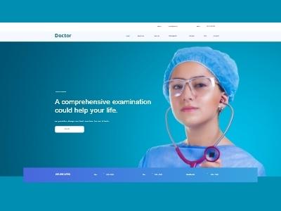 Doctor Template illustration marketing website banner modern ux ui design bowwe web design logo business web doctor website concept website builder graphic design