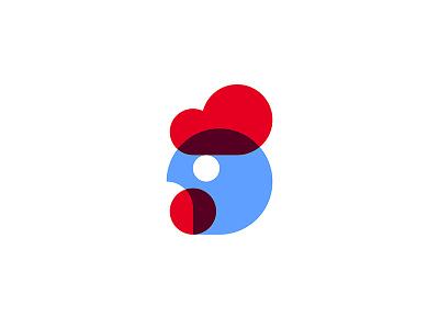 Chicken abstract symbol mark logotype logo circle bird cock rooster fowl hen chicken