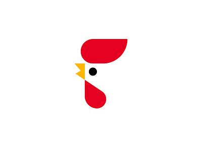 Chicken symbol rooster mark logotype logo hen fowl cock circle chicken bird abstract