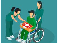 Isometric Illustration of End of Life Treatment Hospital Clinics