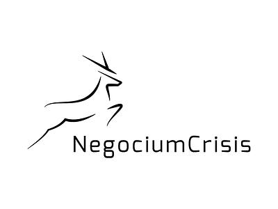 Negocium Crisis Logo leader guide horn animal totem tusks negotiation elk stag animal deer logo