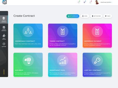 Blockchain Solution Admin Dashboard