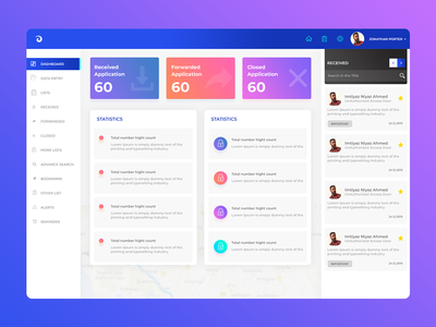 Admin Dashboard Design