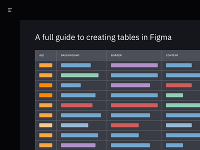 Tables in Figma: an in-depth guide design system user interface ui ux design ux guide table table data figma