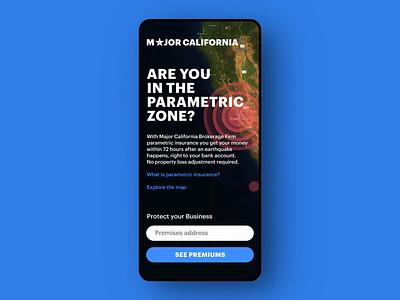 InsureTech solution for a California brokerage firm ux ui product design mobile menu ios interface application figma app california insuretech insurance earthquake