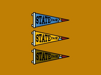 State Fair Pennants  localfair midway classic statefair pennants fromthefieldnotes type colors shapes lines sketchtovector boards