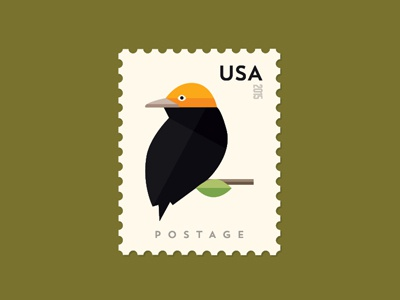 Bird Stamp inthemail usa postage birdstamp fromthefieldnotes overlays type colors shapes sketchtovector boards