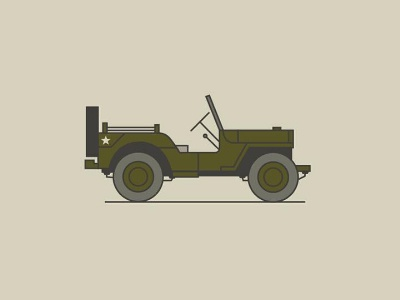 Willy built military adventuremobile willys jeep fromthefieldnotes colors lines shapes sketchtovector boards