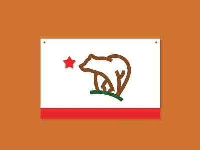 CA usa justforfun simplified stateflag westcoast republic flag california fromthefieldnotes overlays