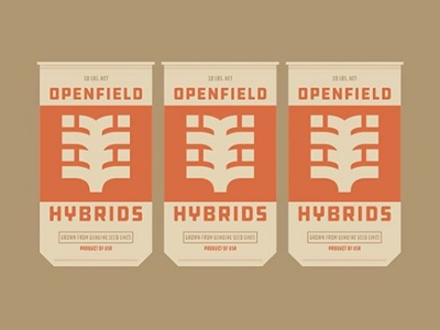 Openfield Hybrids Seed Sacks - Agriculture harvest farming ag seedsack openfieldhybrids fromthefieldnotes ddchardware type overlays