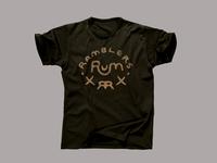 Ramblers Rum - T-shirt - Dark Waters