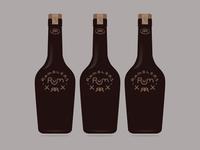 Ramblers Rum - Bottle Design - Dark Waters