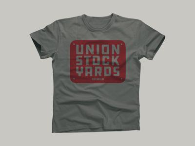 Union Stock Yards - Omaha - Shirt merchandise nebraska midwest history largestinthenation stockyards omaha backintheday