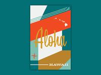 Aloha - Hawaii Trip Poster - Chill Vibes