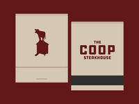 The C O O P Steakhouse - Branding - Matchbook