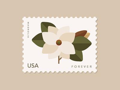 Magnolia · Stamp · USA