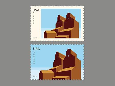 Grain Elevators - Stamp Series - Small Town USA #1