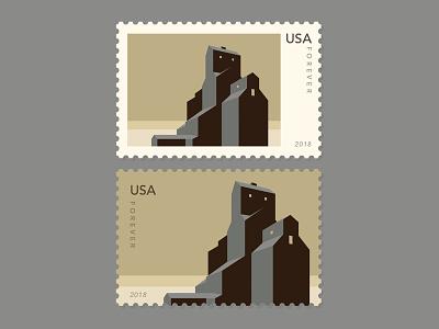 Ttms Grain Elevators - Stamp Series - Small Town USA #3