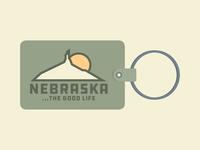NEBRASKA ...THE GOOD LIFE // Key chain