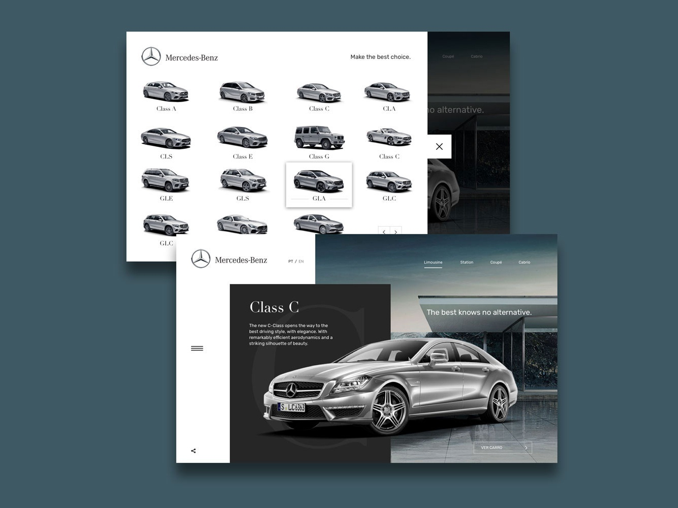 Mercedes1 mobile clean art animation responsive minimal website web ux ui flat design app