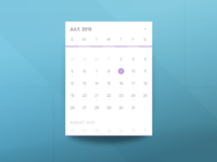 Calendar Card - July