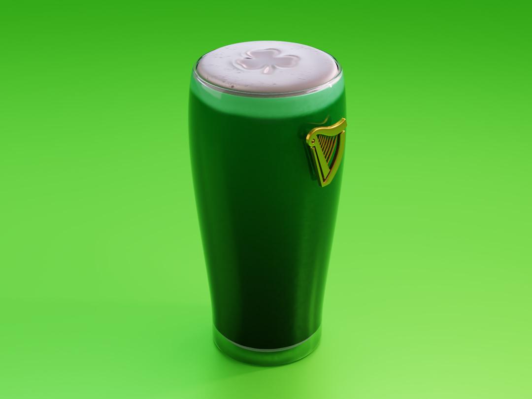 Guinness for your health cyclesrender blender st patricks day harp shamrock ireland guinness