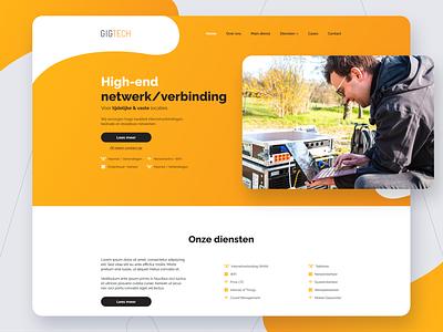 Gigtech.nl website redesign event ict website webdesign redesign branding ux design ui design ui agency visual design make it max design