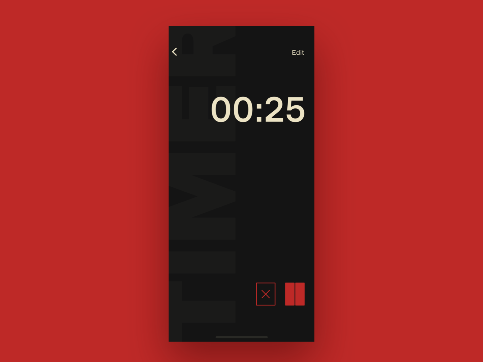 UI Daily, #014 – Countdown Timer timer typography ux flat app ui design
