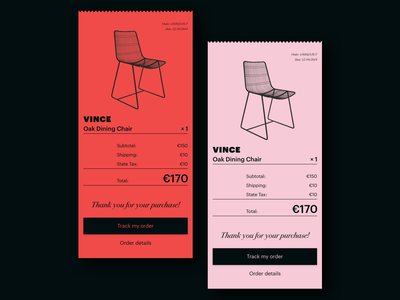 UI Daily, #017 – Email Receipt cash voucher commodity check cheque payment receipt ticket email app typography ui design