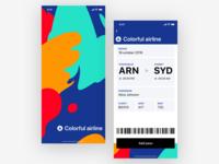 UI Daily, #024 – Boarding pass