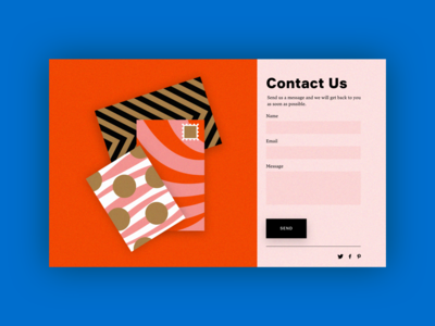 UI Daily, #028 – Contact Us