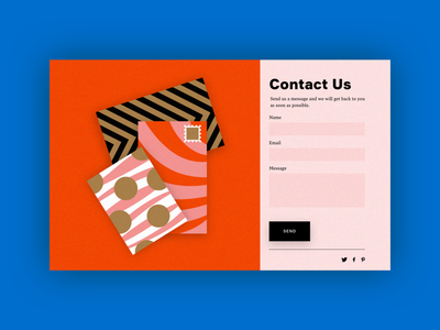 UI Daily, #028 – Contact Us contactus web website uidaily illustration typography ui design