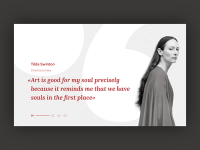 UI Daily, #039 – Testimonials testimonials dailyui web website typography uidaily ui design