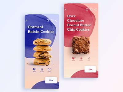 UI Daily, #040 – Recipe cookies illustration typography uidaily app ui design