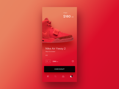 UI Daily, #058 – Shopping Cart shopping cart shopping bag ecommerce sport snickers nike app ux dailyui uidaily ui design