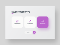 UI Daily, #064 – Select User Type