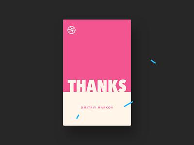 UI Daily, #077 – Thank You thank you dribbbble dailyui uidaily ui design
