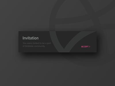 UI Daily, #078 – Pending Invitation dribbbble invitation dailyui uidaily ui design