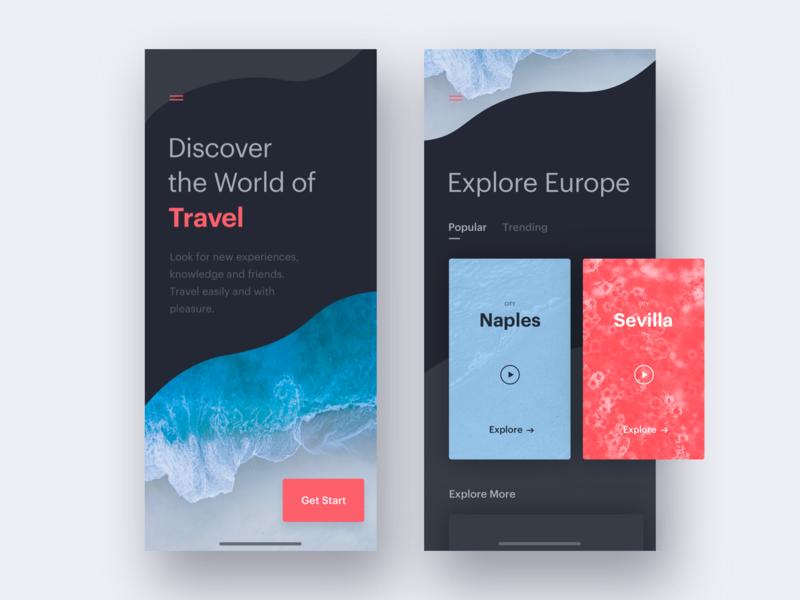 UI Daily, #079 – Itinerary itinerary discover serf explore travel dailyui app ux uidaily ui design