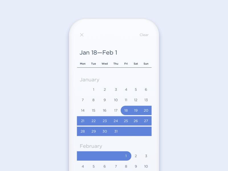 UI Daily, #080 – Date Picker date calendar date picker dailyui ux app uidaily ui design