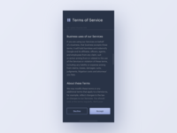 UI Daily, #089 – Terms of Service