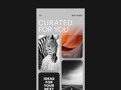 UI Daily, #091 – Curated For You feed curated for you typography app dailyui uidaily ui design