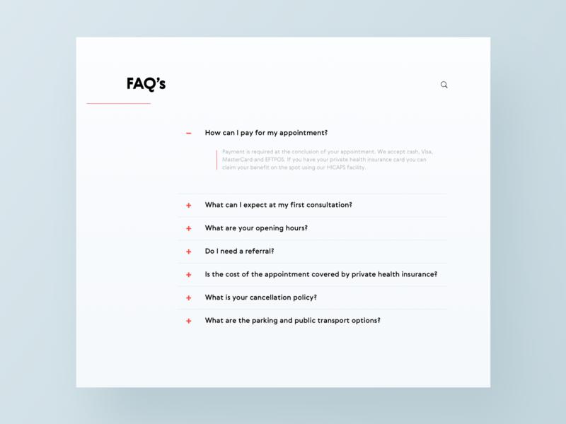 UI Daily, #092 – F.A.Q. faq web typography dailyui uidaily ui design